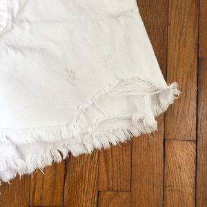 Zara Skirts - Zara White Denim Skort